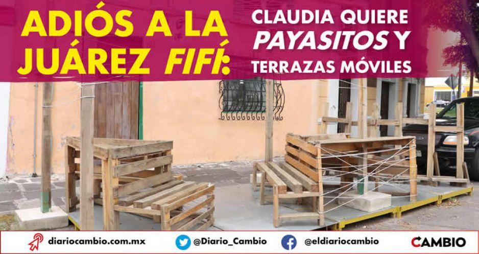 Adiós a la Juárez fifí: Claudia quiere payasitos y terrazas móviles