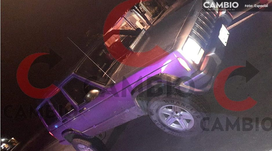 Ebrio atropella a policía durante filtro de revisión en Xicotepec