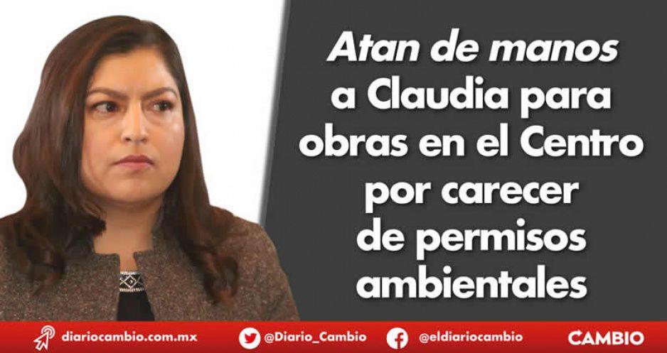 Atan de manos a Claudia para obras en el Centro por carecer de permisos ambientales
