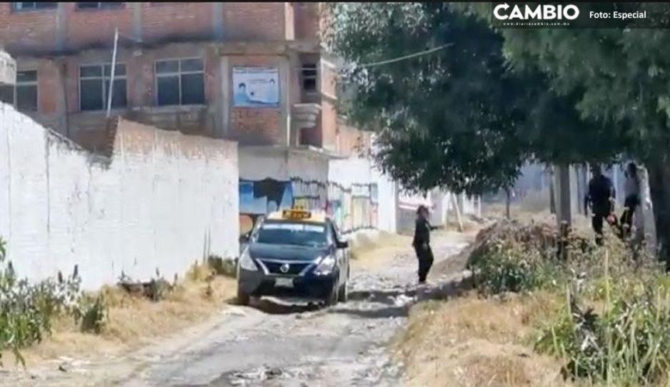 Ejecutan de un disparo en el rostro a taxista durante violento asalto en la Guadalupe Xonacatepec
