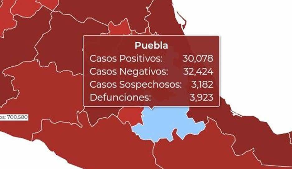 Federación esconde 200 muertos por Covid en Puebla: reconoce 3 mil 923 de 4 mil 123