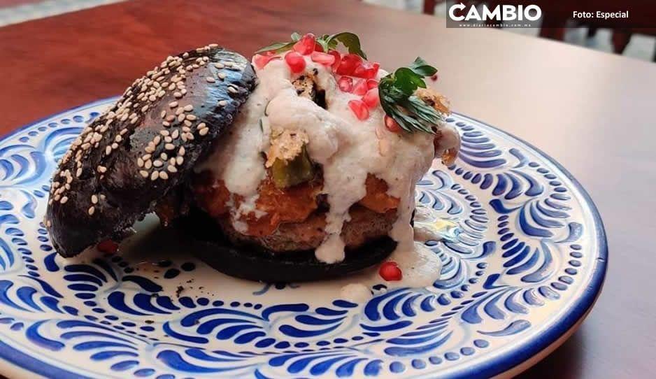 199 pesos cuesta la cemita o  hamburguesa Chile en Nogada