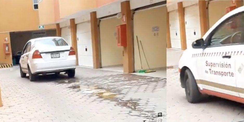 ¡Motelazo! Captan a unidad oficial de Movilidad y Transporte entrando al motel (VIDEO)