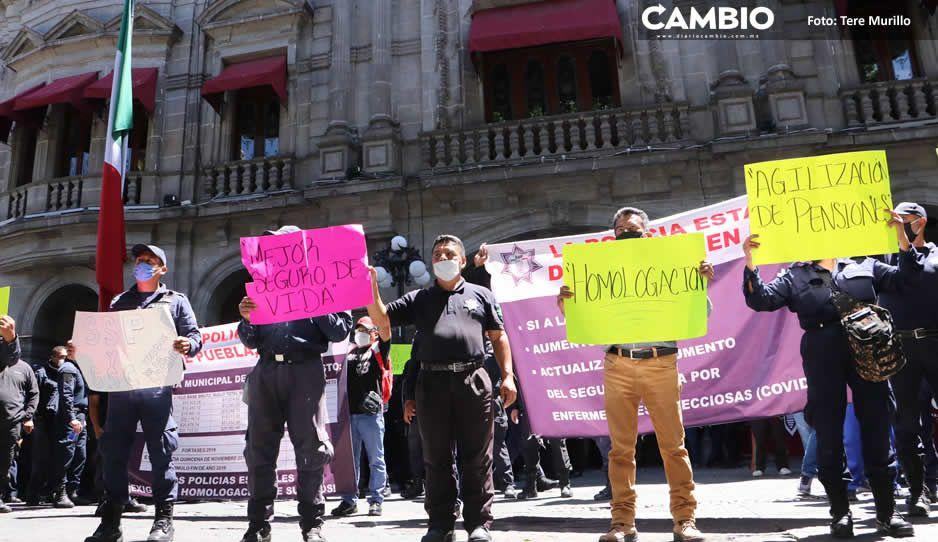 Policías estatales acusan falta de aumento  a salarios; Barbosa dice que ya cumplió