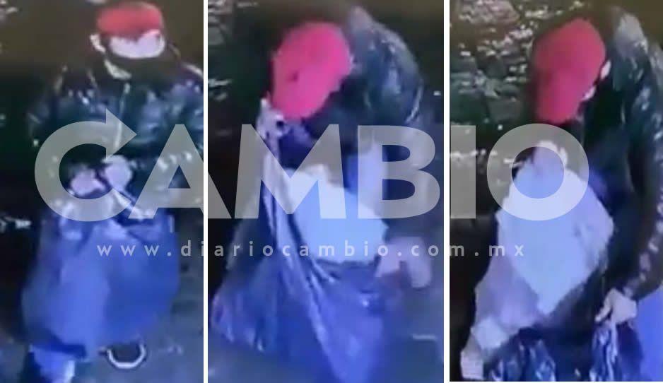 Sin miedo a nada:Abren boquete en local y roban decenas de celulares en Huauchinango