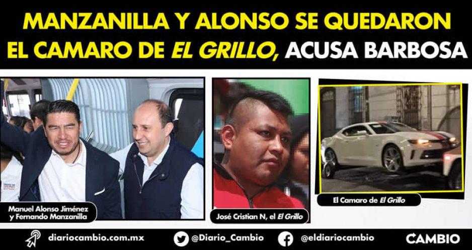 Manzanilla y Alonso se quedaron el Camaro de El Grillo, acusa Barbosa (VIDEO)