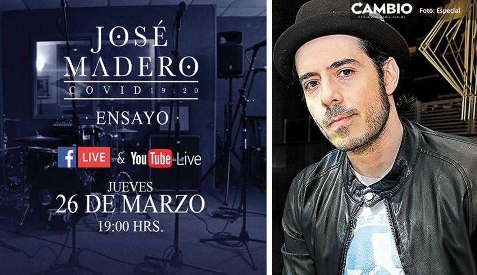 ¡Te deleitará José Madero con su voz! ofrece concierto virtual este 26 de marzo