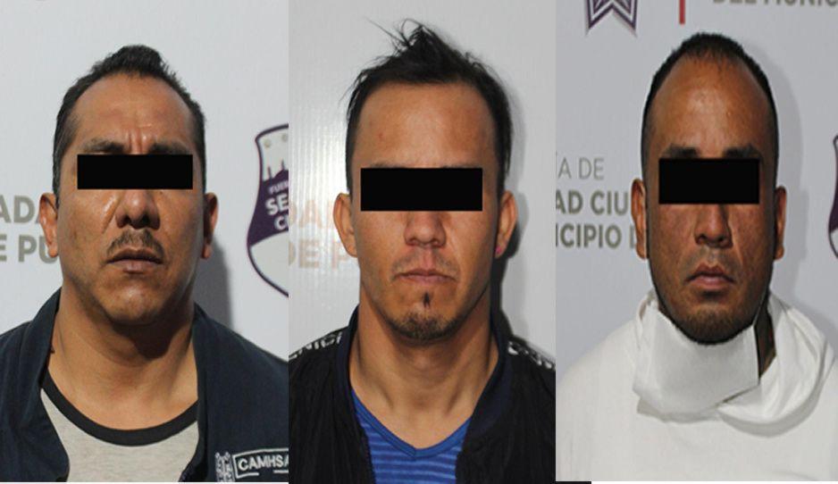 Detienen a tres por portación ilegal de armas en la colonia México 83