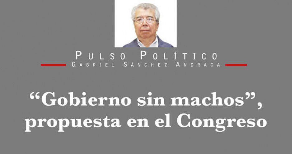 """""""Gobierno sin machos"""", propuesta en el Congreso"""