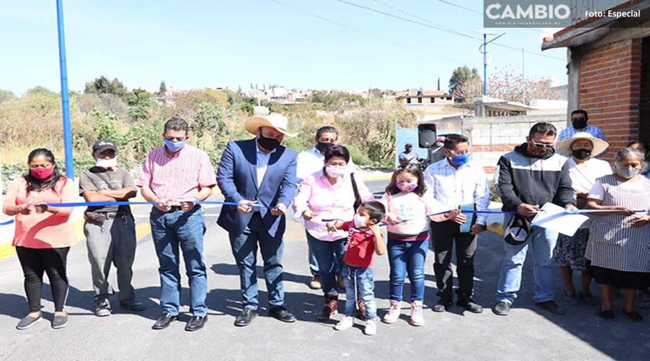 Continúa Guillermo Velázquez mejorando infraestructura de coloniascéntricas de Atlixco