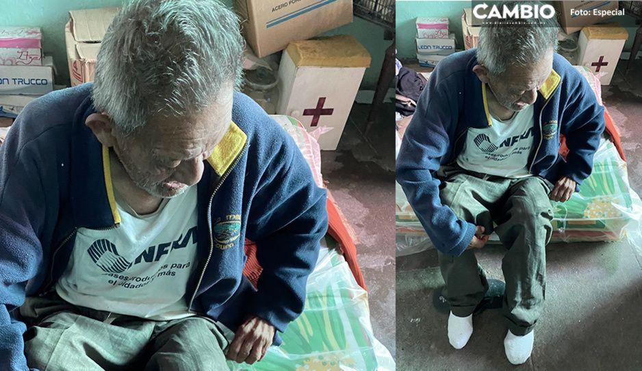 Abuelito Raymundo pide ayuda para sobrevivir, ya no puede trabajar más