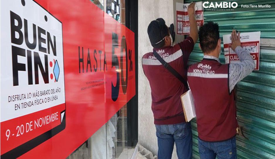 Clausuras en el Buen Fin: 47 establecimientos fueron cerrados por incumplir aforo del 30 por ciento