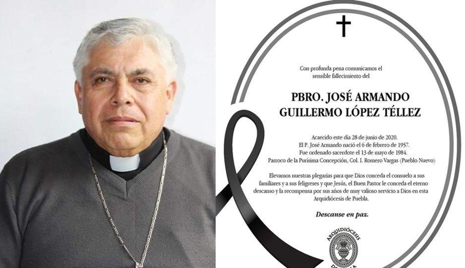 Muere José Armando Guillermo, sacerdote de la Purísima Concepción en la Romero Vargas