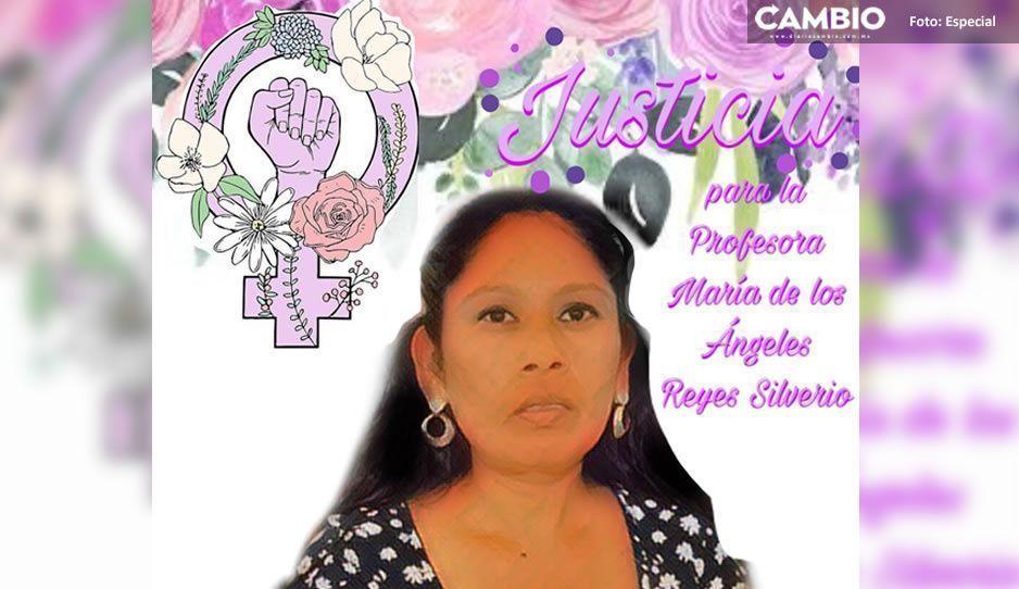 Exigen a la Fiscalía liberar orden de aprehensión contra presunto feminicida de maestra en Acatlán; crean #JusticiaParaMaAngeles