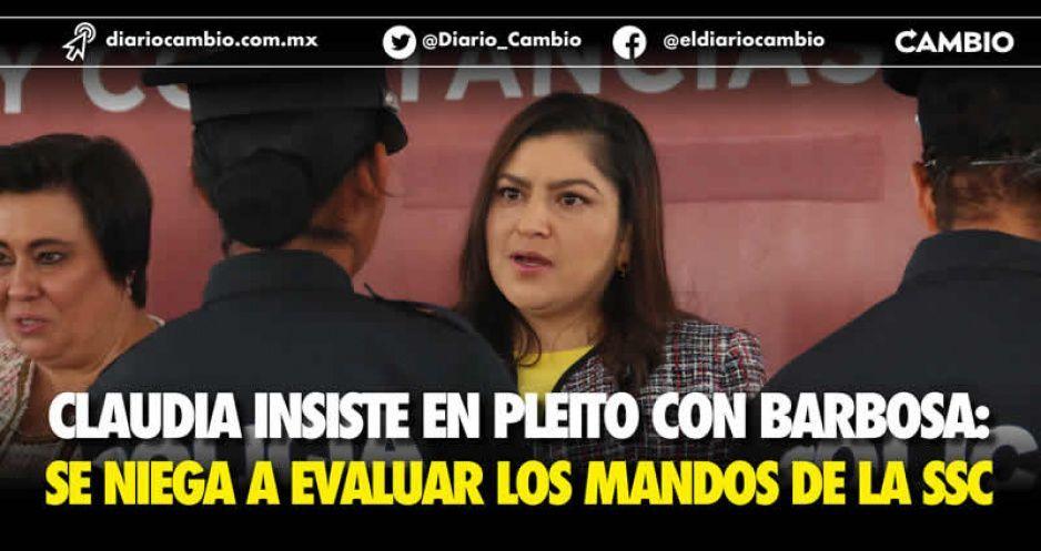 SSP solicita control de confianza a mandos de Seguridad Pública municipal: Claudia se niega a la evaluación de Lourdes y compañía