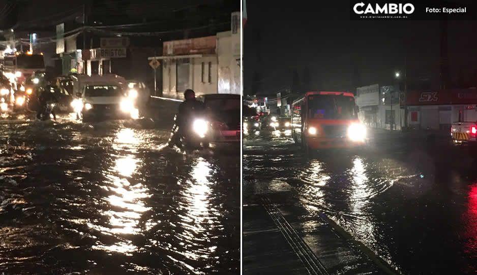 ¡Se inunda Puebla! Las calles de Bugambilias, Patrimonio y las Margaritas se convierten en ríos (FOTOS y VIDEO)