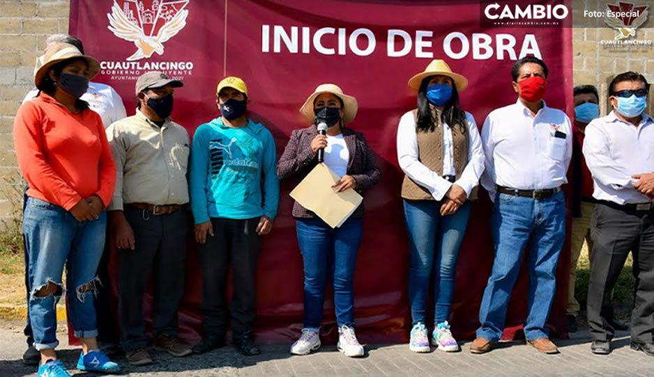 En Cuautlancingo, Lupita Daniel cierra el año con arranque de obras