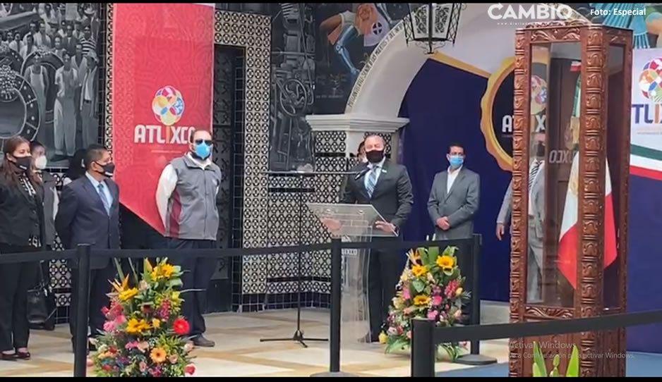 Realizan la guardia de Honor en el Palacio Municipal de Atlixco (VIDEO)