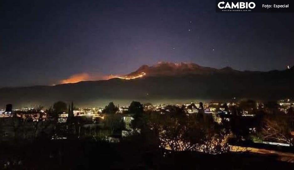 Medio Ambiente estatal y CONAMP ya trabajan para controlar incendio en Iztaccihuatl