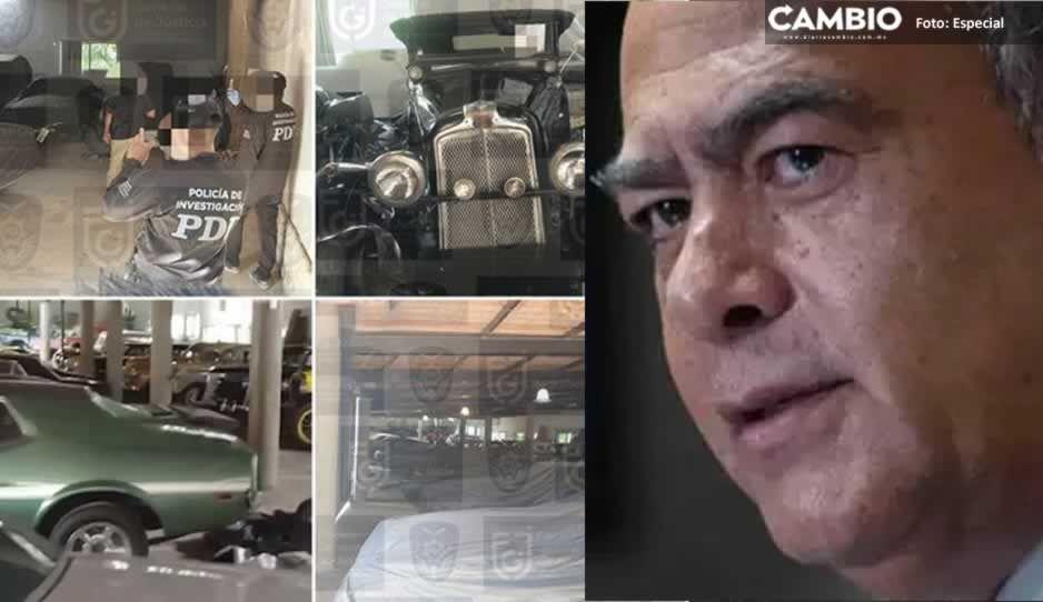Fiscalía capitalina asegura 41 autos clásicos y costosas obras de arte en casa de Raymundo Collins