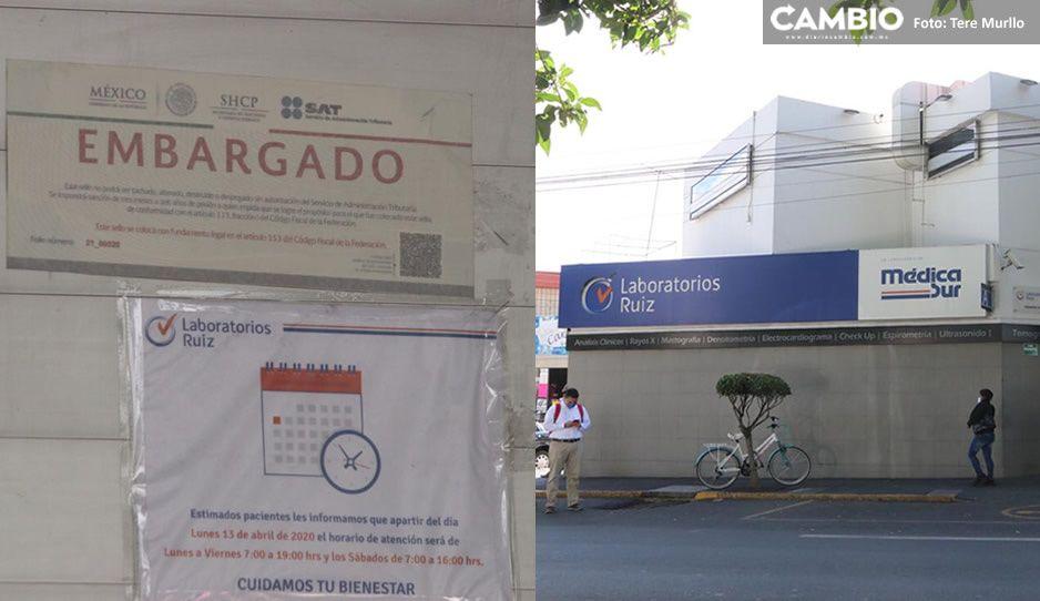 SAT realiza embargo a Laboratorios Ruiz; permanecerá cerrado hasta nuevo aviso