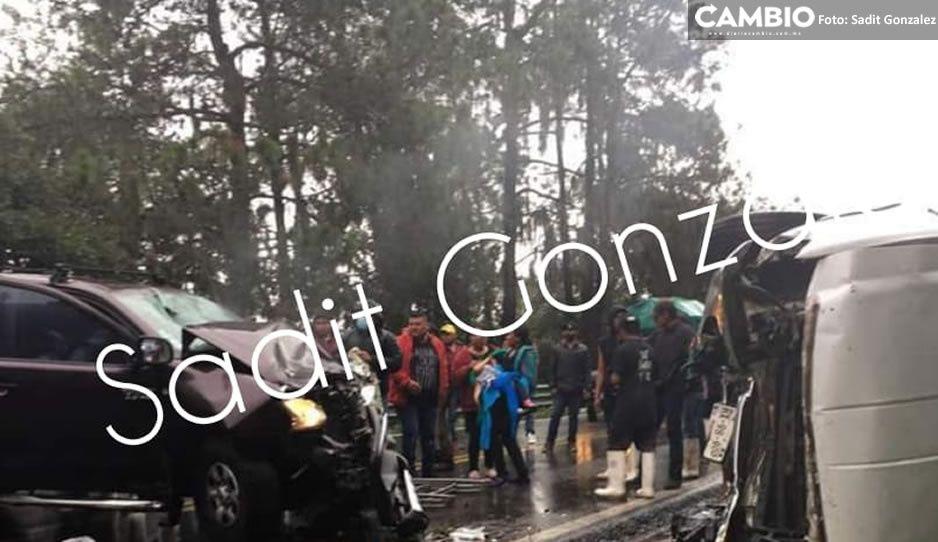 Carreterazo en la Acatzingo-El Seco deja cuatro lesionados (VIDEO y FOTOS)