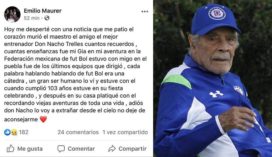 Maurer lamenta la muerte de Nacho Trelles: un amigo y un histórico del fútbol mexicano
