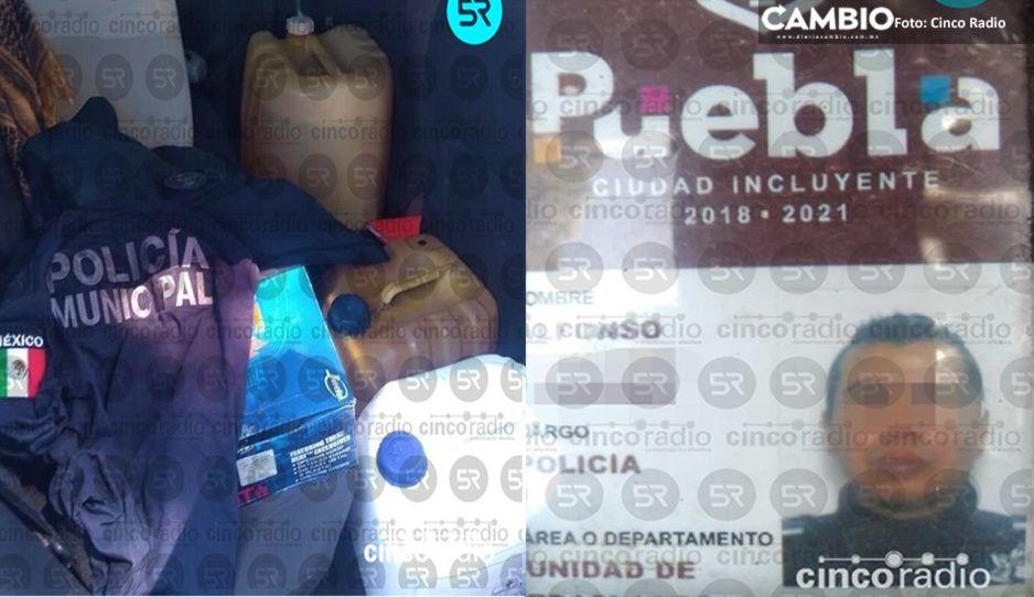 Cae policía municipal de Claudia por huachicolero: se robaba gasolina de las patrullas y traía 52 mil de la venta