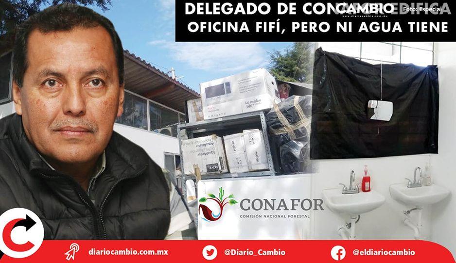Acusan a delegado de Conafor de construir oficina fifi, pero ni agua tiene