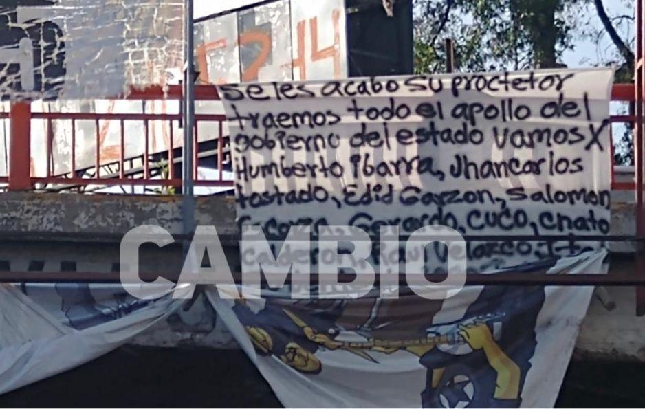 Amenazan con narcomanta a políticos y sicarios vinculados al Loco Téllez en Texmelucan