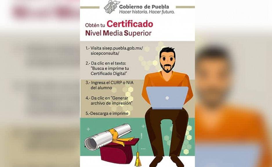 Así podrán descargar su Certificado digital egresados de preparatorias
