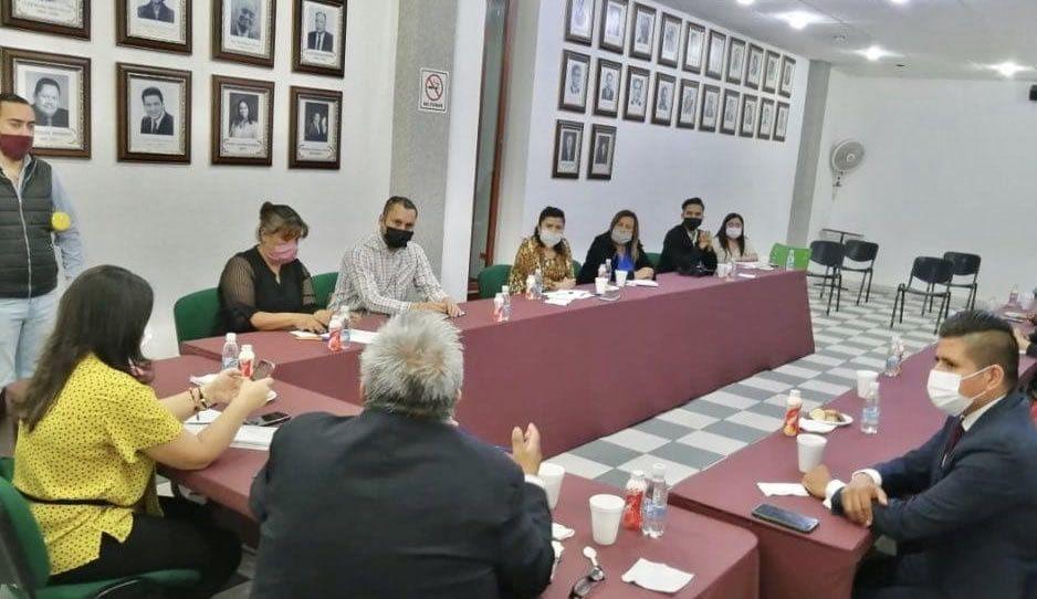 Norma Layón y director de Delegaciones de la Secretaría de Gobierno presiden reunión vs Covid