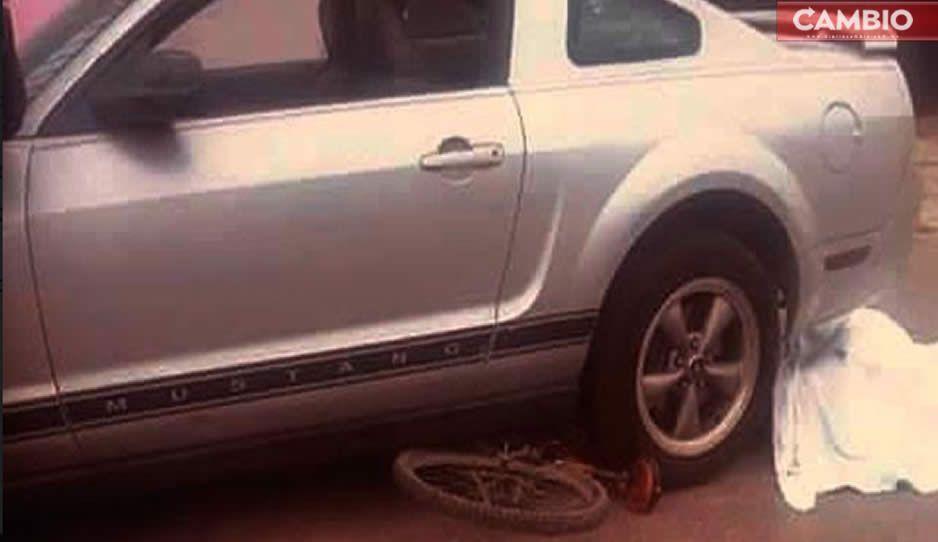 Mustang arrolla a quinceañera y hermano en Acatzingo; ella muere en el accidente