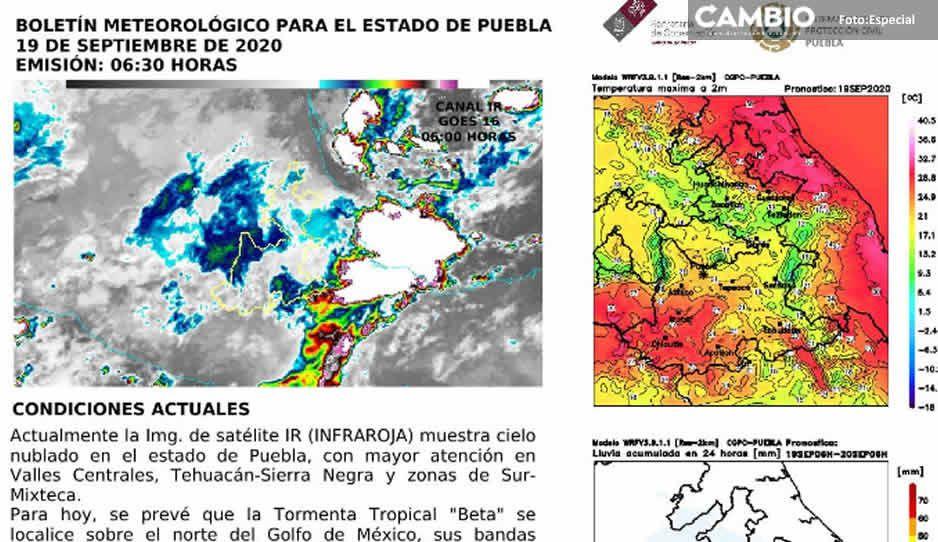 Puebla tendrá uno de los fines más lluviosos del año