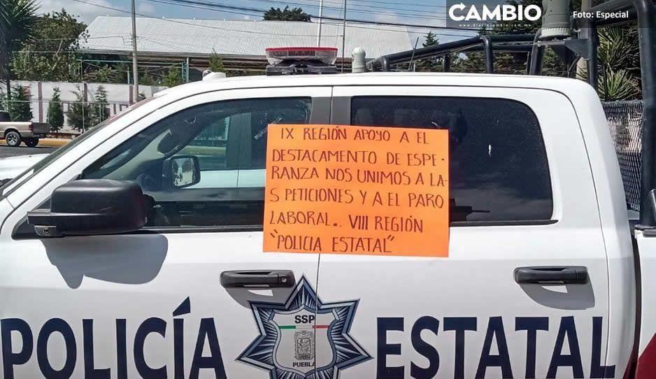 Policías estatales de Izúcar, Coatzingo, Teziutlán y Esperanza se suman al paro