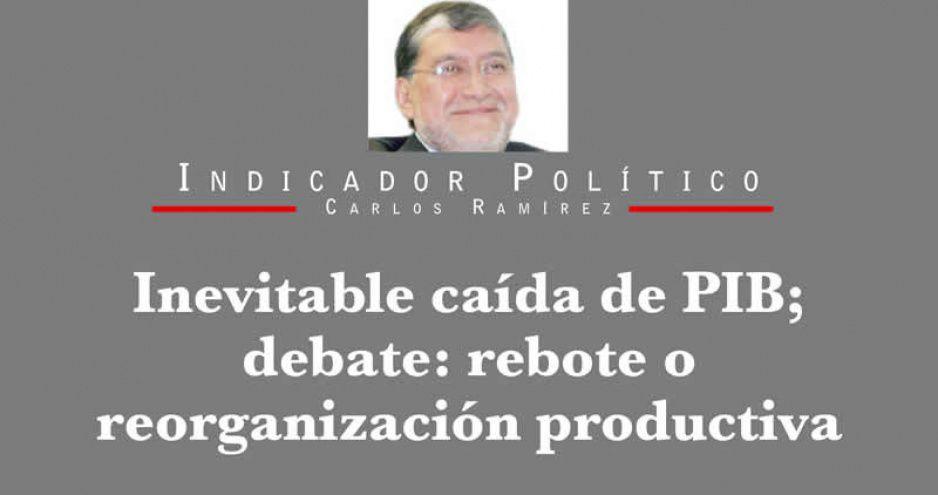 Inevitable caída de PIB; debate: rebote o reorganización productiva