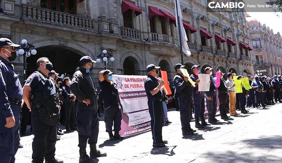 Policías en paro se descaran: van a Palacio Municipal a agradecerle a Claudia