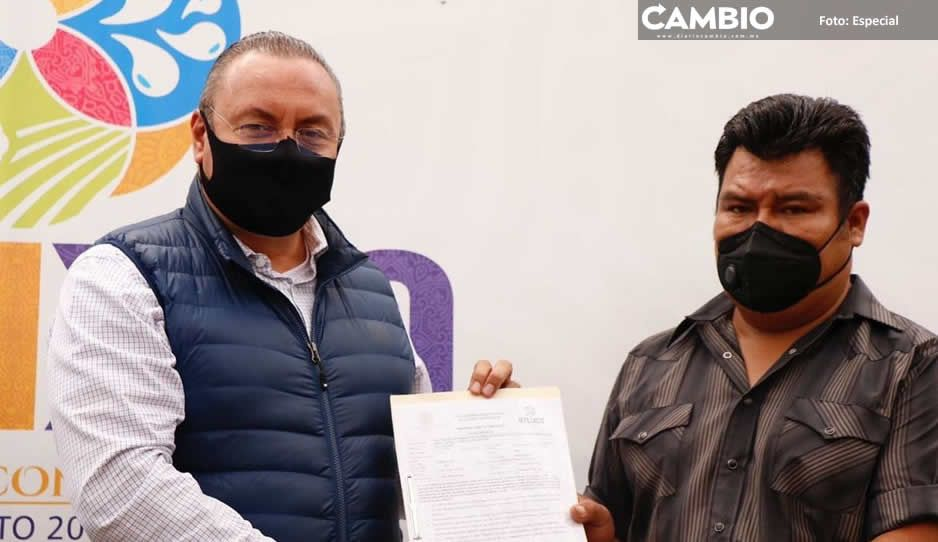 Guillermo Velázquez entrega obras por  más de 4 millones de pesos en Atlixco