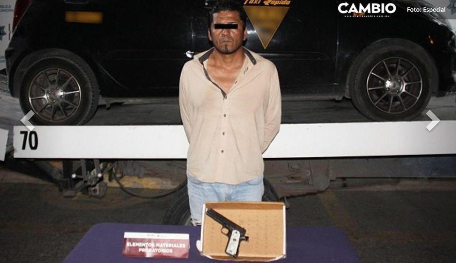 Detienen a un hombre de 39 años que portaba arma de fuego en la colonia Alseseca