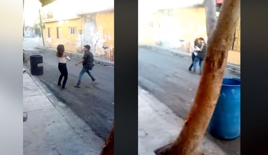 TIRO entre pareja de jóvenes termina en cachondeo (VIDEO VIRAL)
