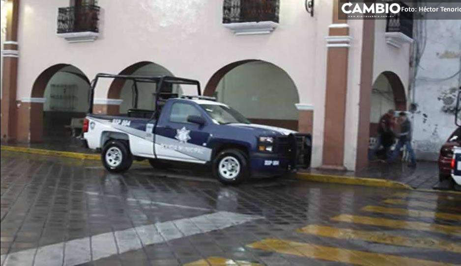 Zafarrancho en seguridad pública de Huejotzingo deja cuatro policías golpeados y 13 detenidos