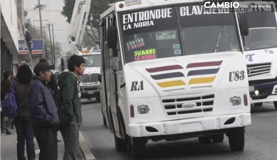 A punta de pistola, asaltan a pasajeros de la ruta Azteca en Angelópolis