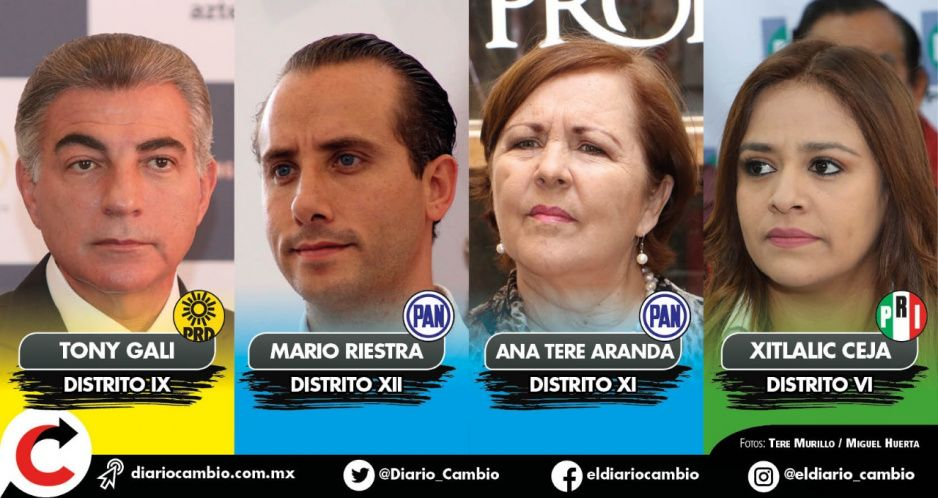 Perfilan a Gali, Riestra, Ana Tere y Xitlalic como candidatos del PRIANRD a diputación federal