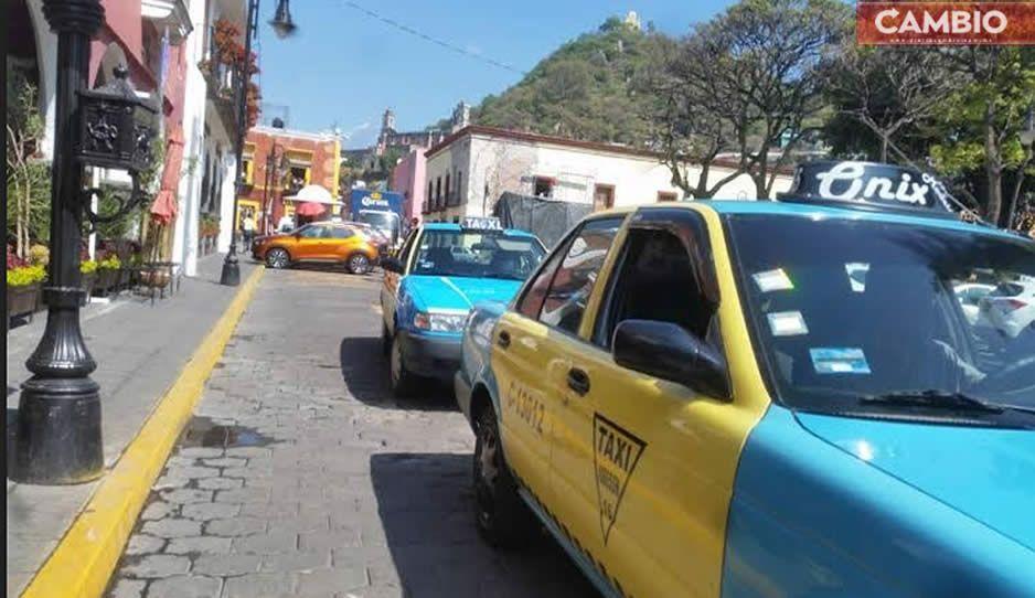 Asaltan y golpean a taxista en Atlixco