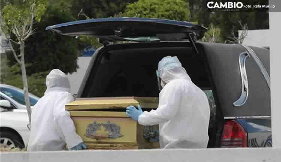 En un solo día Puebla registra 72 muertos por COVID; 39 fallecieron en el IMSS