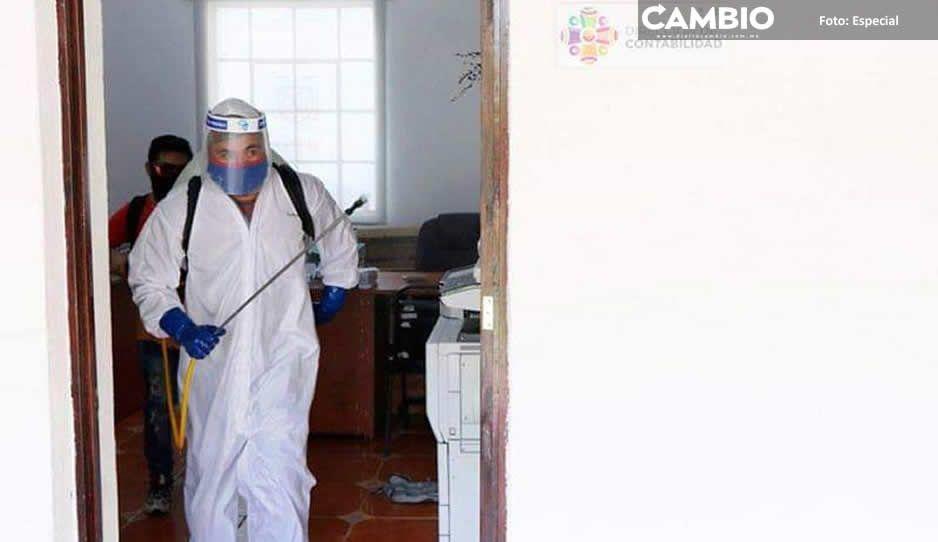Alarma sospecha de posible contagiado de  COVID-19 en edificio municipal de Tehuacán