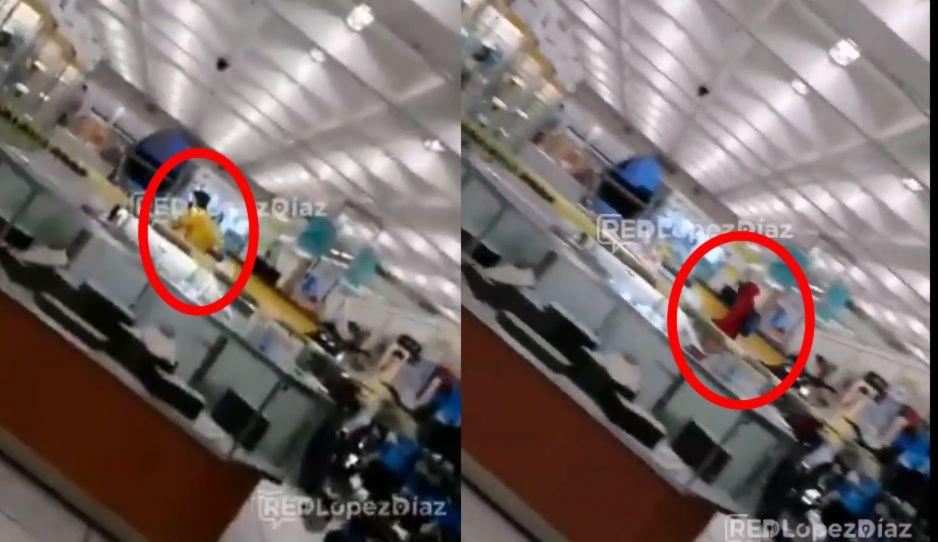 Por fin policías logran evitar atraco al Coppel del Centro (VIDEO)