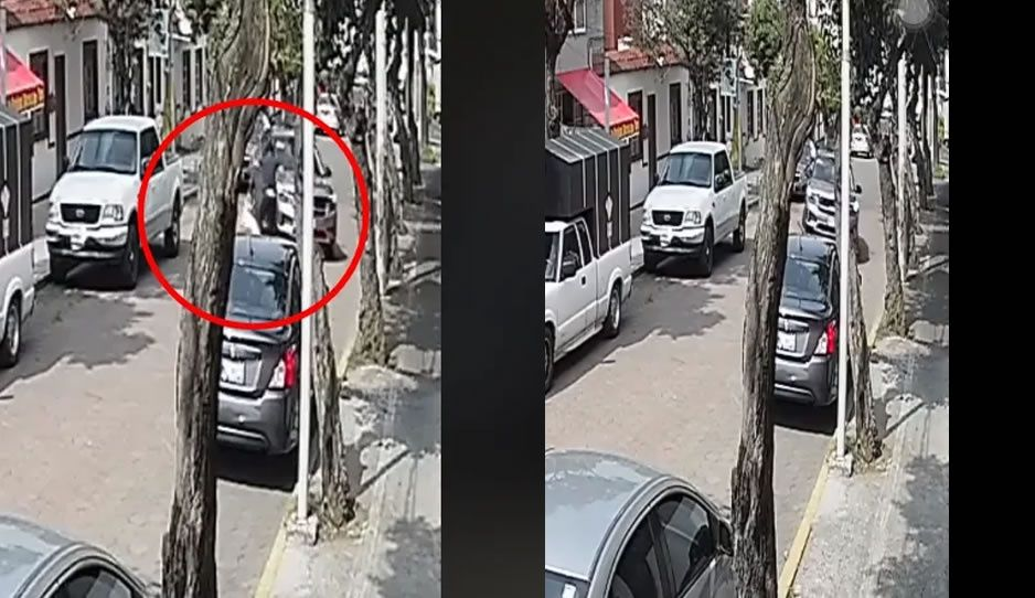 Camioneta atropella a joven y a su perrito; le pasó las llantas por la cabeza (FUERTE VIDEO)