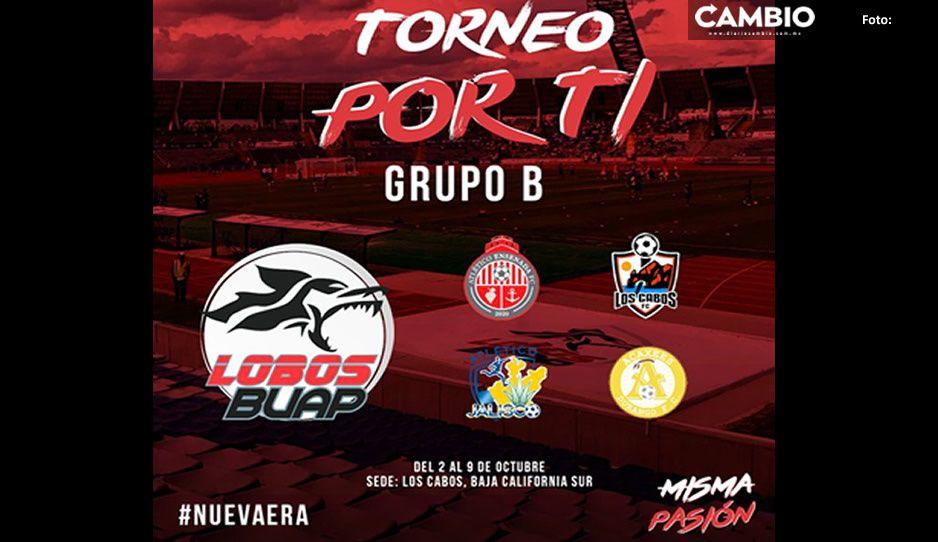 Lobos BUAP participará en torneo de pretemporada en Los Cabos