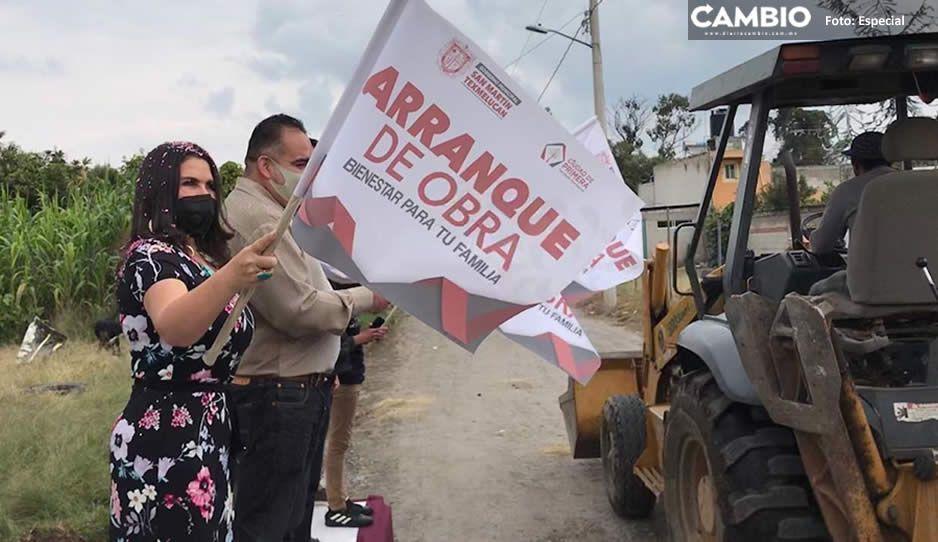 Arranca Norma Layón obras de pavimentación en juntas auxiliares